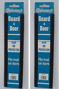 """Car  Door Edge Protector Strip 4 x 12"""" Door Protector Black 2 pairs Doorguard"""
