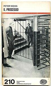 Peter Weiss Il processo Einaudi Collezione di Teatro 1977 commedia da Kafka