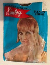 Lot Of VINTAGE PANTYHOSE AND PACKAGE - YOUNG Twiggy MODEL Kmart Simley