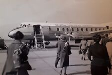 1958 B/W Photograph. Women Passengers on Tarmac, BEA Vickers Viscount (G-AOHG)