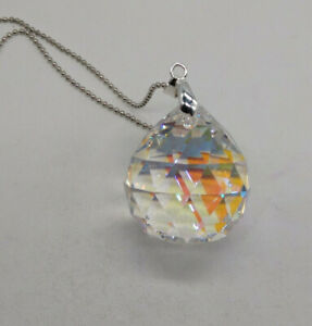 Asfour Crystal Clear AB 30mm Ball Prism Suncatcher/ Ornament; Beautiful!