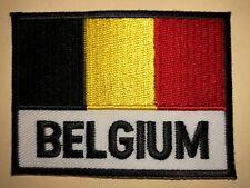 Vintage 1980's Belgium Flag Hipster Jacket Backpack Biker Vest Travel Patch 006