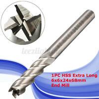 6MM HSS & Aluminium Schaftfräser Drehmaschine Geraden Schaft 4 Flöte Fräser