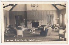 Lounge Sport Center BAIE COMEAU Quebec Canada 1948 ASN Real Photo Postcard