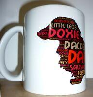 Dachshund (Long Haired) Word Art Mug, Xmas Gift, Mothers Day Gift, Gift Mug