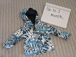 Tie Dye Baby Hoody 1 Month