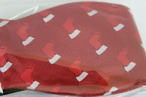 Christmas Bow Tie and Pocket Square Set for Men Xmas Holiday Stockings