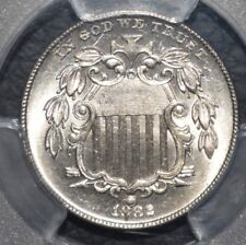 More details for 1882 shield nickel 5 cents ms64 pcgs united states