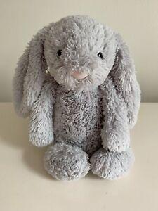 "Jellycat London Approx 12"" Bashful Grey Bunny Stuffed Animal Plush"