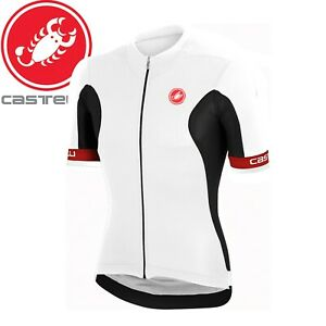 Castelli Volata Fz Men's Cycling Jersey - White/Black