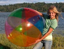 """42"""" 6 Color TRANSPARENT VINYL Inflatable Beach Ball - Glossy SEE-THRU Pool Toy"""