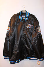 New With Tag NBA Oklahoma City Thunder polyester black jacket men's XXXL