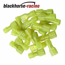 """50Pcs 12/10 FULLY INSULATED .250"""" FEMALE SPADE CRIMP CONNECTOR TERMINAL New"""