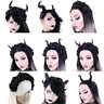 Restyle Fancy Dress & Cosplay & Halloween Horns Roses Demon Headpiece Headband