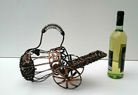 Metal Estante Botella Vino, mimbre sujeta-botellas, Sobre Encimera Metal Soporte