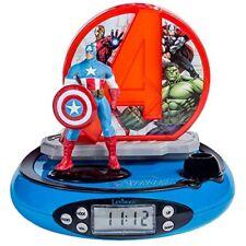 Marvel Avengers - radio despertador con proyector color azul (lexibook Rp500av)