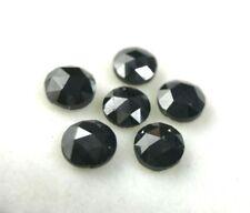 Lot Natural Fancy Diamond 1.20Ct 6 Pcs Black Sparkling Round Rose Cut for Jewel
