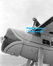 CAROLE LOMBARD 8X10 Lab Photo SEXY OUTSIDE Airplane RARE Tragic Death Airport