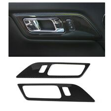 Carbon Fiber Car Door Handle Frame Trim Cover For Ford Mustang 15-17 Accessories