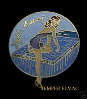 NIGHT MISSION NOSE ART HAT LAPEL HAT PIN UP WW 2 US AIR FORCE ARMY AIR CORPS WOW