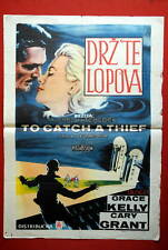 TO CATCH A THIEF ALFRED HITCHCOCK GRACE KELLY CARY GRANT 1955 EXYU MOVIE POSTER