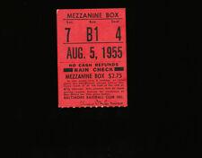 8/5/1955 Chicago White Sox @ Baltimore Orioles Ticket Stub
