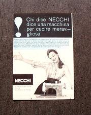 M160- Advertising Pubblicità -1960- NECCHI MACCHINA DA CUCIRE