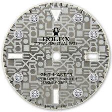 Rolex GMT Master Stainless Steel Slate Grey Jubilee Serti Diamond Dial