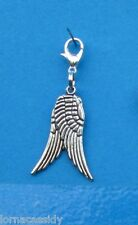Guardian Angel Wings *Clip on Charm* for Bracelet Necklace zipper pull etc.