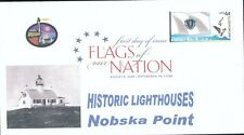 Flags of our Nation - Massachusetts (Sc. 4297) Nobska Point Lighthouse