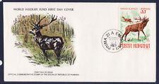 WWF enveloppe 1er jour  Roumanie  le cerf rouge