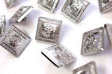 Cada 50P 12 Botones Repuesto 15M pequeño príncipe Charlei Argyll chaquetas de cromo