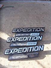 XLT TRITON V8 2000 2001 EXPEDITION TRIM EMBLEM 3PC SET OEM USED ORNAMENT