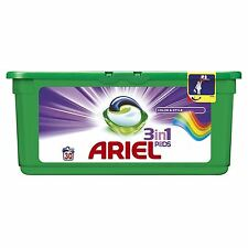 Ariel 3-in-1 Colour Liquitabs Bio Washing Detergent Cleaning Pods - 30 Washes