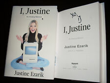 Justine Ezarik signed I, Justine An Analog Memoir 1/1 HC book YouTube