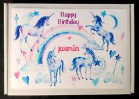 Unicorn Sweet & Chocolate Gift Box Personalised Birthday Christmas Well Done