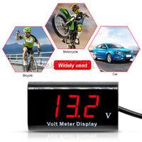 """0.56"""" LED Red Digital Tube Volt Meter IPX6 Waterproof Voltmeter DC 3-18V For Car"""