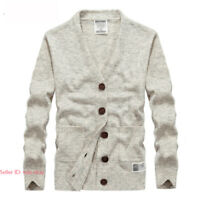 Mens Casual Warm Woolen Knitted Sweater Cardigan Jumper Coats Jackets Button Top