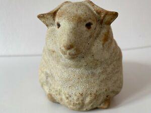 "Vintage Antique large ceramic sheep/ram figurine - marked "".M."" exquisite detail"