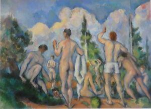 Paul Cezanne, Bathers ( Baigneurs ) Musee d'Atay, Paris. Nude Bathers.