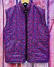 Womans Horse Riding quilted Jacket Paisley Coat Walking zip up front lavenir  M