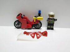 LEGO 60108 ONLY the firefighter motorcycle and minifigures USED