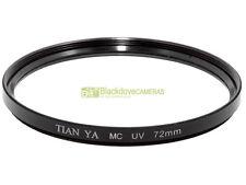 72mm. Filtro UV Tian Ya MC. Ultra violet filter.