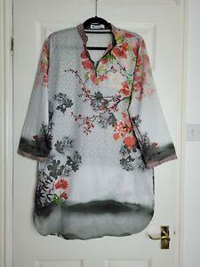 Ladies Beautiful Oriental Design Kurta Kameez Size Large 14