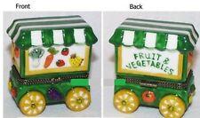 VEGETABLE & FRUIT CART-Porcelain Hinged-Box..MEDITERRANEAN DIET BASICS