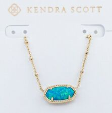 NEW  KENDRA SCOTT Elisa Satellite Gold 406 Midnight Opal Pendant Necklace