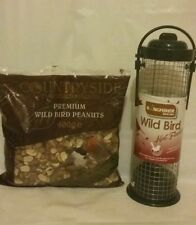 Wild bird nut PEANUT feeder & 400g premium bird peanuts Garden Feed Food