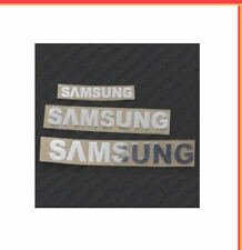 1x Silver Samsung Sticker TV Laptop Ipad Mobile 90mm x 13mm Approx Phone Note 78