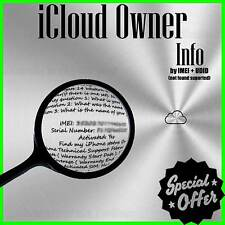 ICLOUD ID Owner INFO Finder by IMEI / UDID (All supported) PREMIUM FAST SERVICE