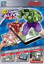 Crayola Color Alive 2.0 Interactive Coloring Book Marvel Avengers Characters